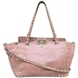 SOLD Valentino Rockstud Light Pink Small Trapeze